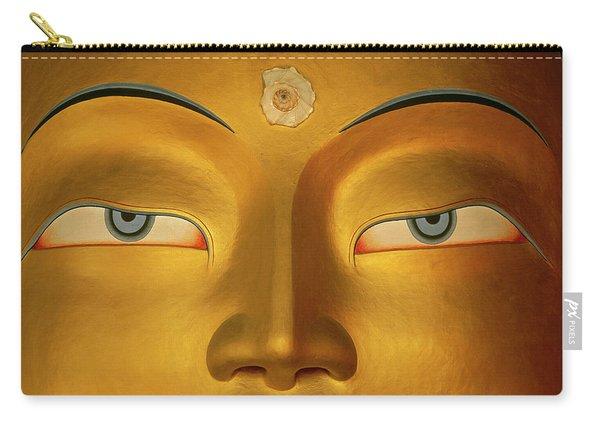 Maitreya Close Up Of Buddha Carry-all Pouch