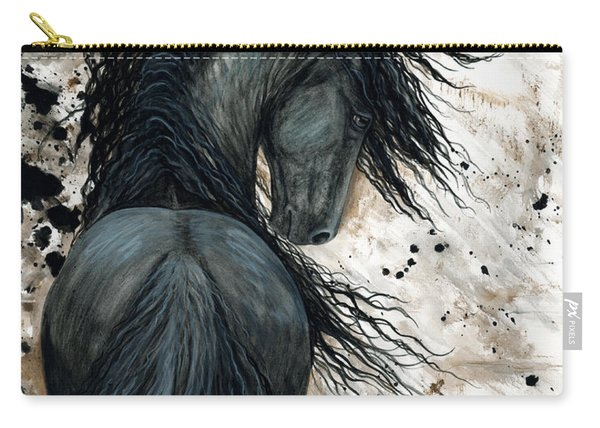 Majestic Friesian Horse 123 Carry-all Pouch