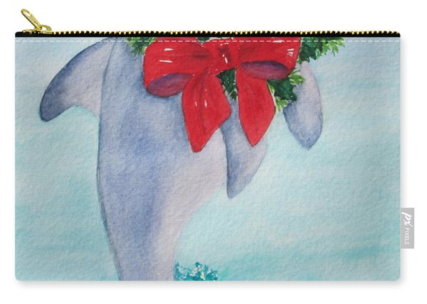 Carry-all Pouch featuring the painting Make A Splash by Diane DeSavoy