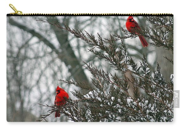 Male Cardinal Pair Carry-all Pouch