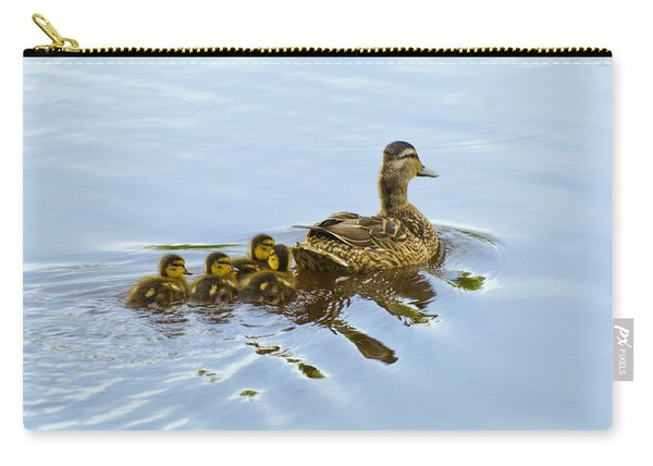 Mallard And Chicks  Carry-all Pouch