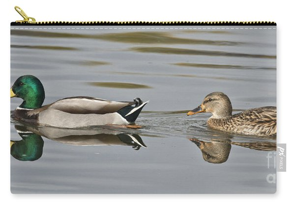 Mallard Drake And Hen Carry-all Pouch