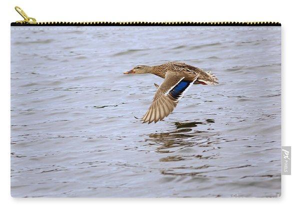 Mallard Duck Female In Flight Carry-all Pouch