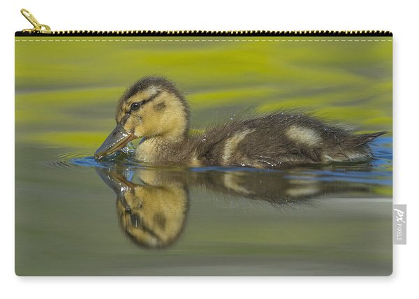 Mallard Duck Swimming In Marsh Pond Carry-all Pouch