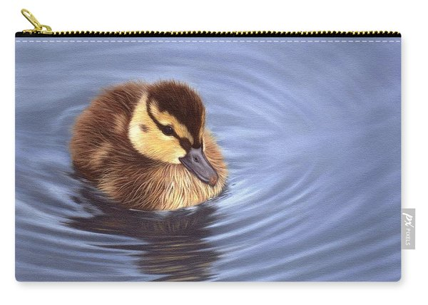 Mallard Duckling Painting Carry-all Pouch
