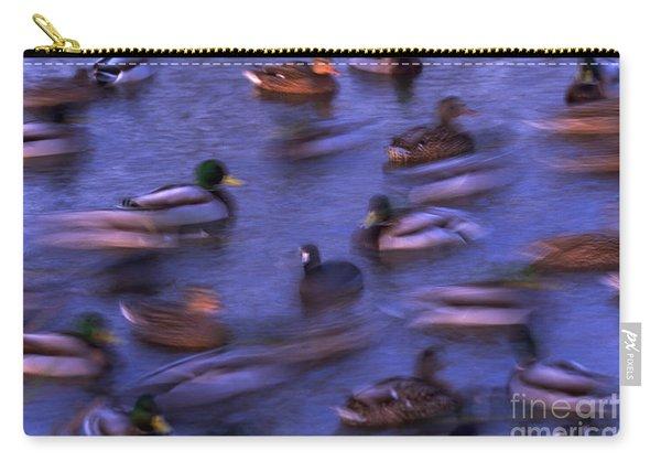 Mallard Ducks Swimming Carry-all Pouch