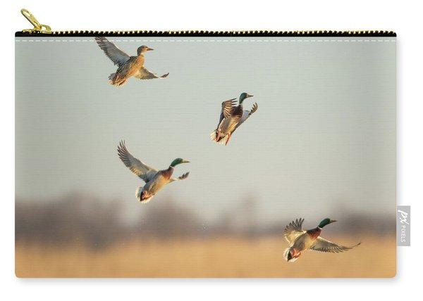 Mallards Anas Platyrhynchos Flying Carry-all Pouch
