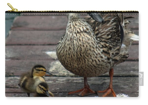 Mama Duck And Ducklings Carry-all Pouch