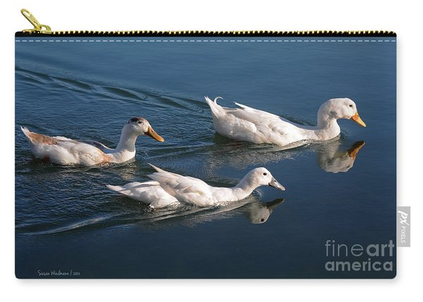 Mama Duck Leads The Way Carry-all Pouch