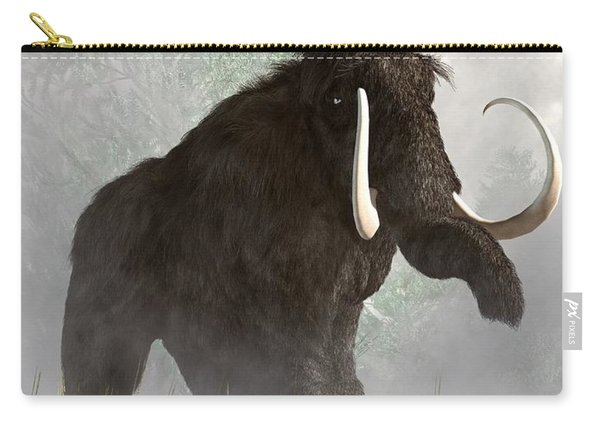 Mammoth In The Fog Carry-all Pouch