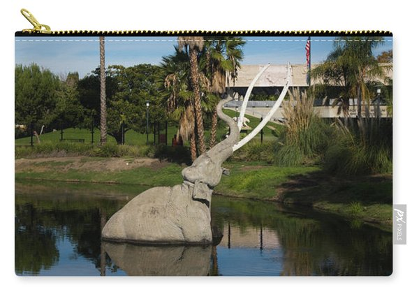 Mammoth Sculpture In A Pool, La Brea Carry-all Pouch