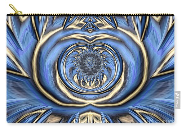 Mandala In Blue And Gold Carry-all Pouch