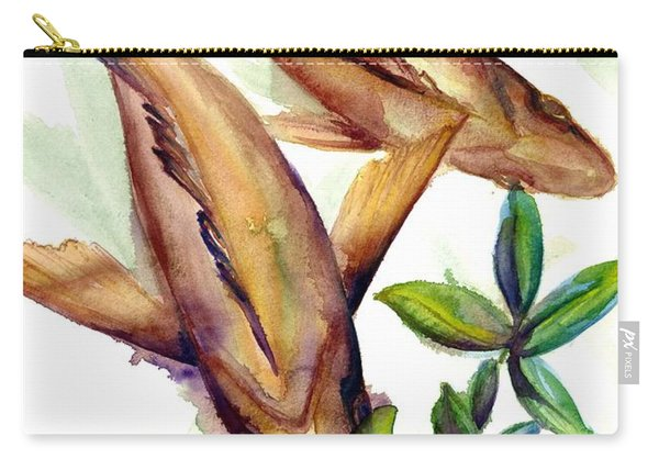 Carry-all Pouch featuring the painting Mangrove Snapper II by Ashley Kujan
