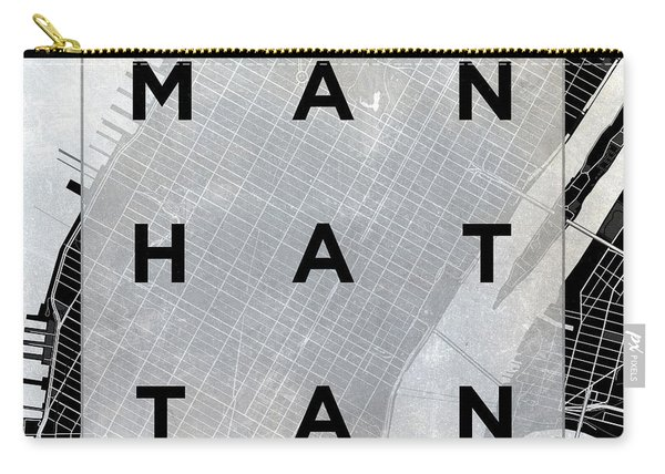 Manhattan Square Bw Carry-all Pouch