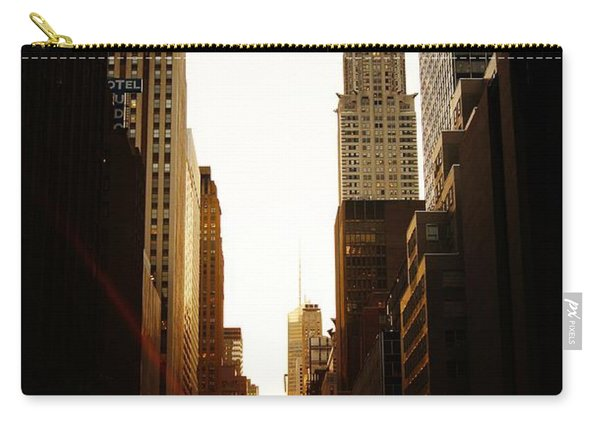 Manhattanhenge Sunset And The Chrysler Building  Carry-all Pouch