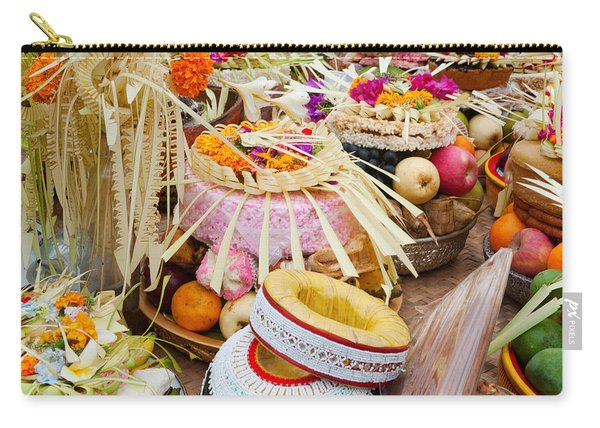 Many Of The Offerings On Cart In Front Carry-all Pouch