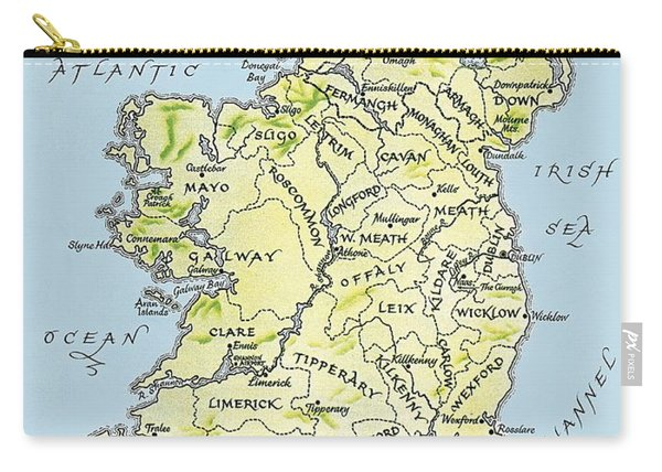 Map Of Ireland Carry-all Pouch