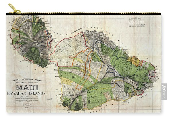 Map Of Maui 1885 Carry-all Pouch
