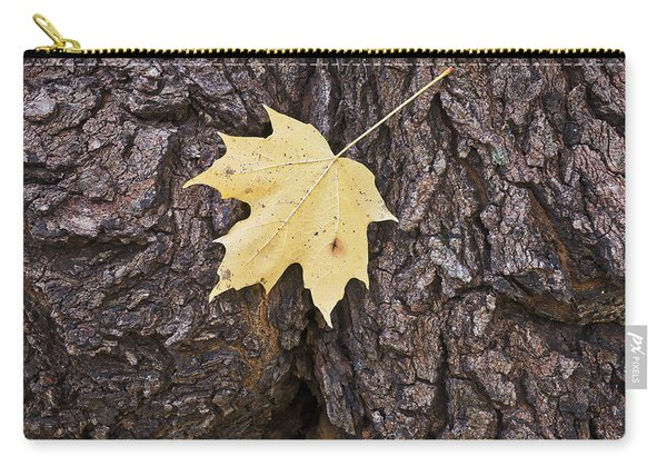 Maple Leaf On Log Carry-all Pouch