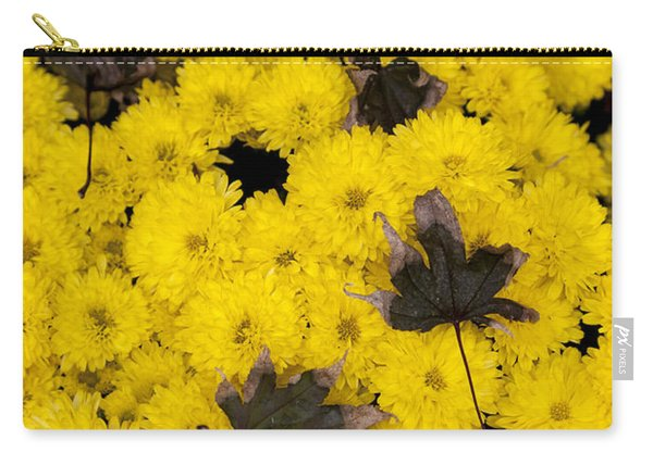 Maple Leaves On Chrysanthemum Carry-all Pouch