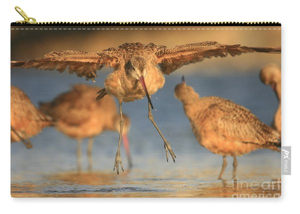 Marbled Godwit Landing Carry-all Pouch