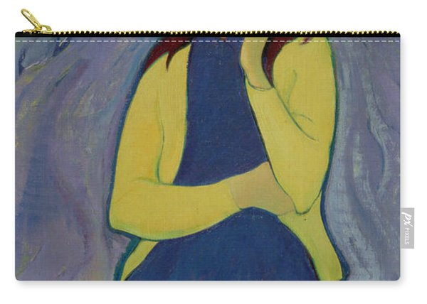 Margaret, Irish Girl, 1967 Oil On Canvas Carry-all Pouch