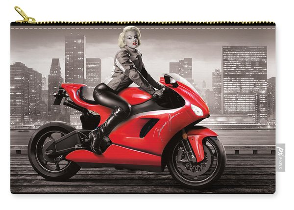Marilyn's Ride Carry-all Pouch