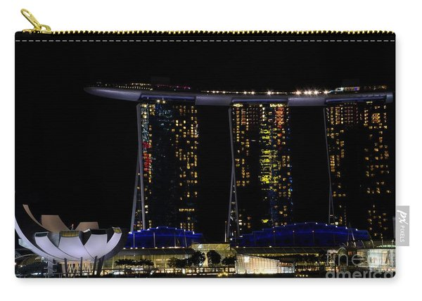 Marina Bay Sands Integrated Resort Hotel And Casino And Artscience Museum Singapore Marina Bay Carry-all Pouch
