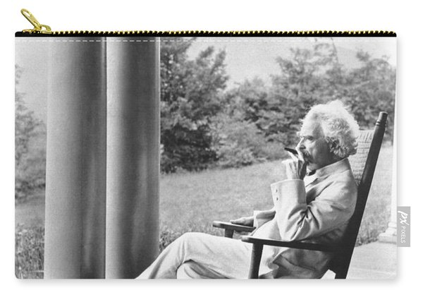 Mark Twain On A Porch Carry-all Pouch