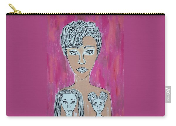 Mother And Daughters Painting And Drawing Carry-all Pouch
