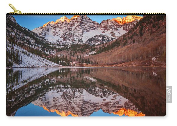 Maroon Bells Alpenglow Carry-all Pouch