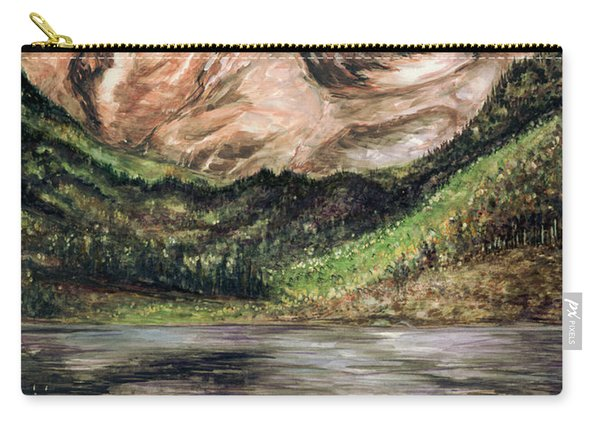 Maroon Bells Colorado - Landscape Painting Carry-all Pouch