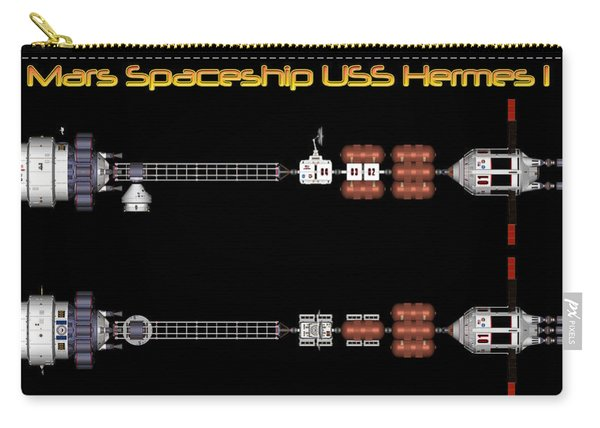 Mars Spaceship Hermes1 Carry-all Pouch