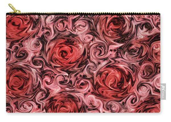 Marsala Roses Carry-all Pouch