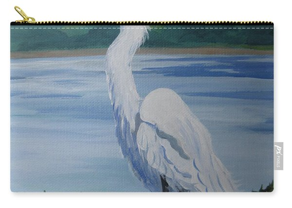 Marsh Land Egret Carry-all Pouch
