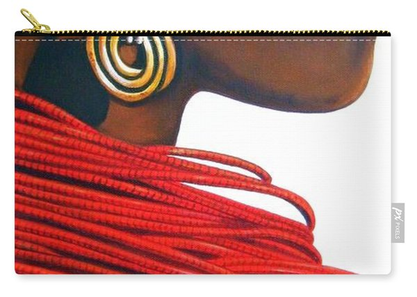 Masai Bride - Original Artwork Carry-all Pouch