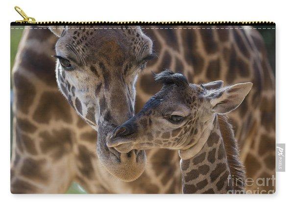 Masai Giraffe And Calf Carry-all Pouch