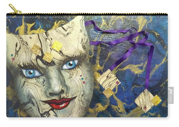 Masquerade Blues Carry-all Pouch
