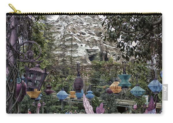 Matterhorn Mountain With Tea Cups At Disneyland Carry-all Pouch