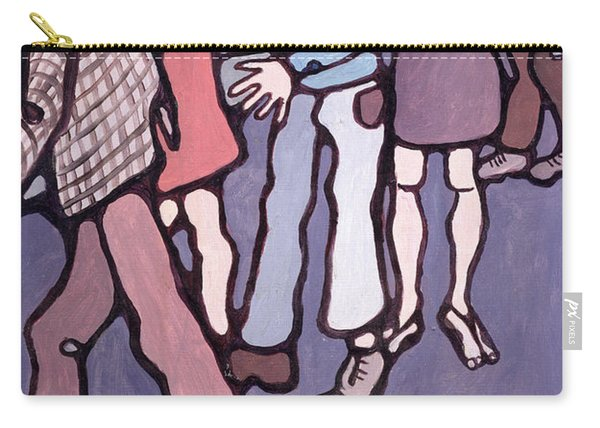 Maudsley Hospital Inmates, 1974 Oil On Canvas Carry-all Pouch