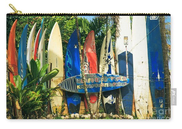 Maui Surfboard Fence - Peahi Hawaii Carry-all Pouch