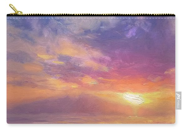 Coastal Hawaiian Beach Sunset Landscape And Ocean Seascape Carry-all Pouch