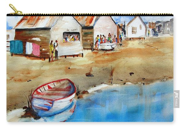 Mauricio's Village - Beach Huts Carry-all Pouch