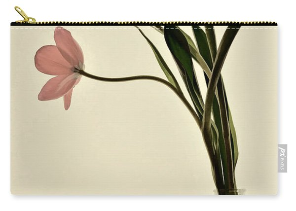 Mauve Tulips In Glass Vase Carry-all Pouch