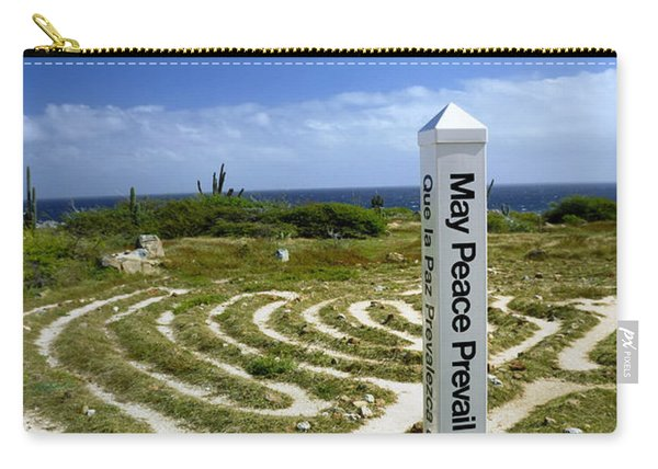 May Peace Prevail On Earth Peace Labyrinth Aruba Carry-all Pouch