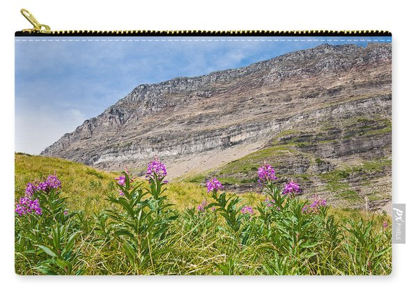 Meadow Of Fireweed Below The Continental Divide Carry-all Pouch