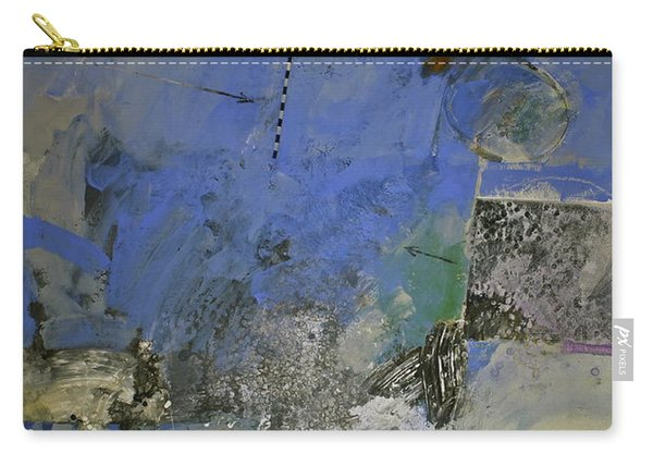 Carry-all Pouch featuring the painting Meatier Illogical Cold Front by Cliff Spohn
