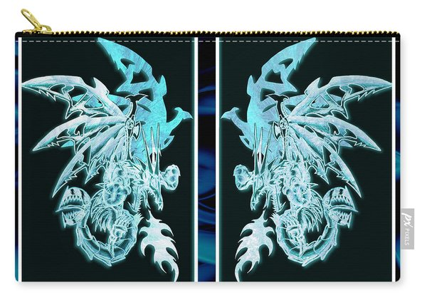 Mech Dragons Diamond Ice Crystals Carry-all Pouch