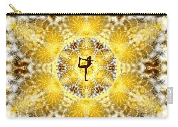 Carry-all Pouch featuring the digital art Meditation Galaxy 8 by Derek Gedney