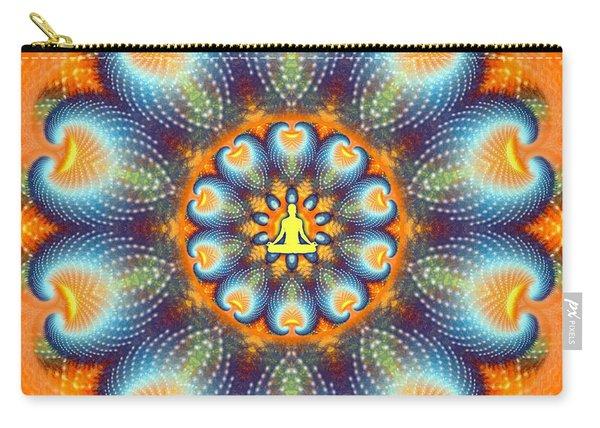 Carry-all Pouch featuring the digital art Meditation Galaxy 9 by Derek Gedney